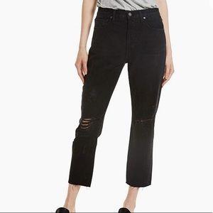 FRAME Black Jeans Le Original Cropped High Wasited